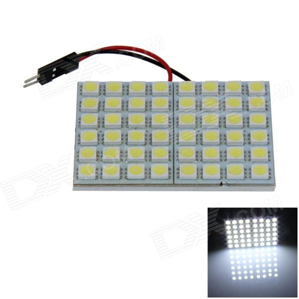 T10 / BA9S / adorno 8W 400lm 48 x SMD 5050 LED de luz blanca de coches Light Reading / Panel de luz - (12V)