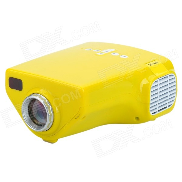 LETO E03 Mini Home Portable LED HDMI Projector - Yellow