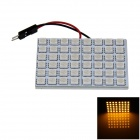 T10 / BA9S / Festoon 8W 400lm 48 x SMD 5050 LED Yellow Light Car Reading Light / Panel Light - (12V)