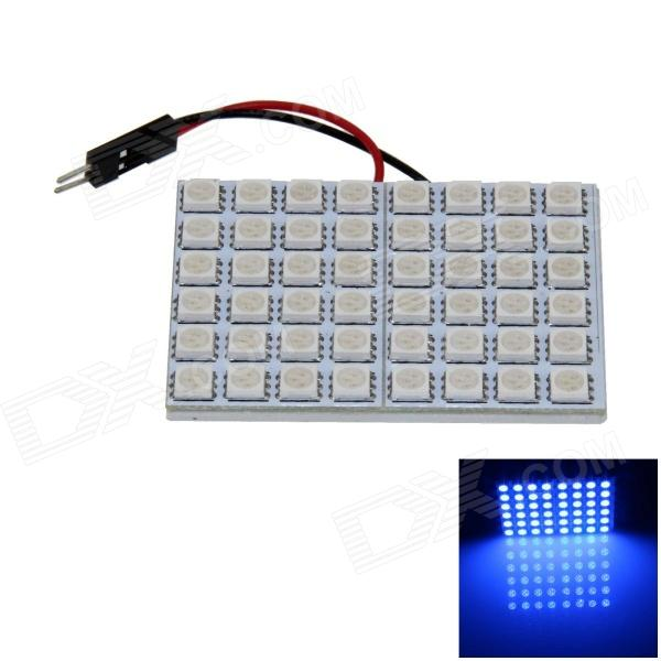 T10 / BA9S / Festoon 8W 400lm 48 x SMD 5050 LED Blue Light Car Reading Light / Panel Light - (12V)