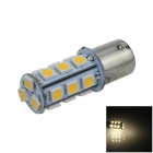 1141 / BA15S / 1156 4W 200lm 18 x SMD 5050 LED Warm White Car-Signal-Licht / Bedienung Lampe - (12V)