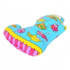 Cute Shoe Style Canvas + Cellucotton Style Pet Toy w/ Sound Effect for Dog - Blue + Orange