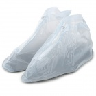 Men's Convenient PVC Rainproof Shoe Cover - Translucent White (Size 42)