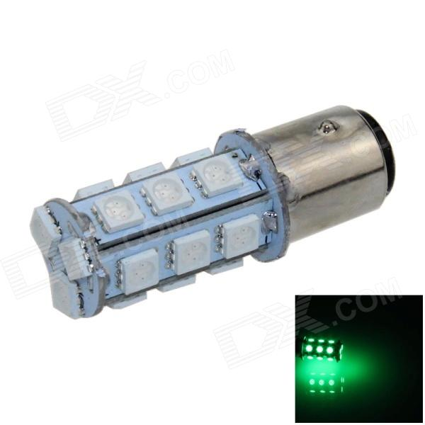 1157 / BAY15D 3W 280lm 18 x SMD 1210 LED Green Car Backup Light / Brake Lamp / Signal light - (12V)