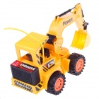 8037 5-Channel Remote Control Flash Excavating Truck w/ Rechargeable Battery - Yellow (3 x AA)