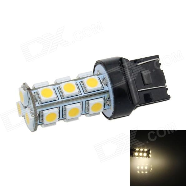 7443/7440/T20 6W 600lm 18 SMD 5050 LED Warm White Car Steering / Freio / Luz Backup / Cauda - (12V)