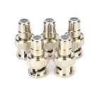 LSON RCA Female Jack to BNC Male Plug Connector Adapter for CCTV Camera - Silver (5PCS)