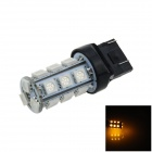 7443/7440/T20 6W 200lm 18 x SMD 5050 LED Yellow Car Steering / Brake / Backup / Tail Light - (12V)