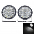 CARFU AC-2012 4W 216lm 18 x SMD 5050 LED White Light Daytime Running Lamp - Black (DC 12V / 2 PCS)