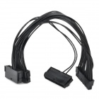 PET 24pin PCI Power Start Cable for Desktops - Black (30cm)