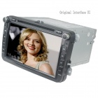 "LsqSTAR 8"" DVD Player w/ GPS, TV, RDS, Bluetooth, OPS, IPAS, SWC, Can Bus,OBD,Dual Zone for VW SKODA"