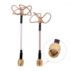 FPV 5.8G Clover 3-Blade Transmitting Antenna + 4-Blade Receiving Antenna (TX w/ RX)