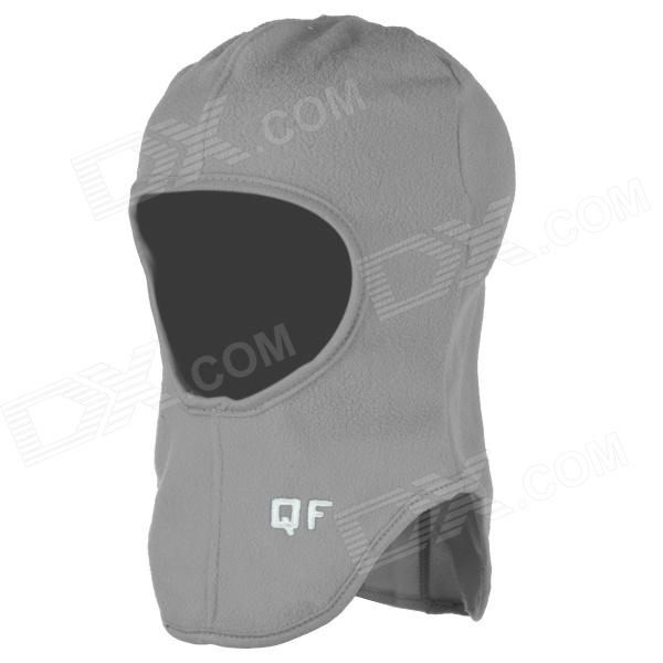 QF B11137 Outdoor Sports Cycling Warm Fleece Mask Helmet Cap for Men - Grey (Free Size)