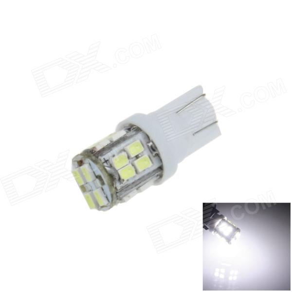T10 / 168 / W5W 2W 130lm 20*SMD 1206 LED White CarLamp (12V)