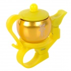 JSZ AI006 Tea-pot Style Aluminium Alloy Bicycle Bell - Golden + Yellow