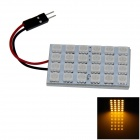T10 / BA9S / Festoon 4W 200lm 24 x SMD 5050 LED Yellow Light Car Reading Light / Panel Light - (12V)