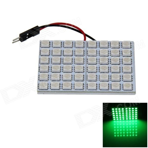 T10 / BA9S / Festoon 8W 400lm 48 x SMD 5050 LED Light Green Car Light Reading / Panel de luz - ( 12V)