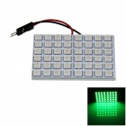T10 / BA9S / Festoon 8W 400lm 48 x SMD 5050 LED Green Light Car Reading Light / Panel Light - (12V)