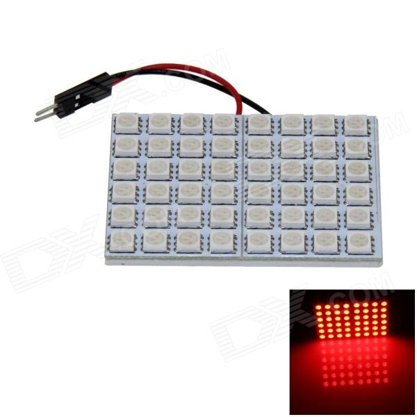 T10 / BA9S / Festoon 8W 400lm 48 x SMD 5050 LED Red Light Car Light Reading / Painel Light - (12V)