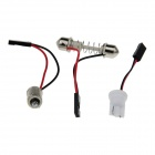 T10 / BA9S / Festoon 8W 400lm 48 x SMD 5050 LED Red Light Car Reading Light / Panel Light - (12V)