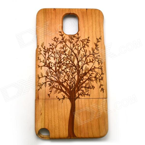 Big Tree Pattern Detachable Protective Wooden Back Case for Samsung Galaxy Note 3 N9000 - Burlywood