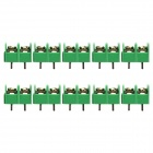 Jtron Terminal Block 2P / Pitch 7.62mm - Green (10 PCS)