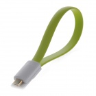 Magnetic Micro USB Male to USB 2.0 Male Data Sync / Charging Cable for Samsung, Google, Sony - Green