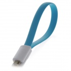 Magnetic Micro USB Male to USB 2.0 Male Data Sync / Charging Cable for Samsung, Google, Sony - Blue