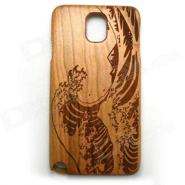 Wind Wave Pattern Detachable Protective Wooden Back Case for Samsung Galaxy Note 3 N9000 - Burlywood wind wave pattern detachable protective wooden back case for samsung galaxy note 3 n9000 burlywood