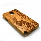 Wind Wave Pattern Detachable Protective Wooden Back Case for Samsung Galaxy Note 3 N9000 - Burlywood