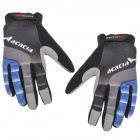 Acacia 0394307 Cycling Riding Full-Finger Gloves - Black + Blue (Size L / Pair)