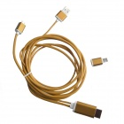 S-M14 Micro USB to HDMI 1080P MHL Cable for Samsung Galaxy S4 / S3 / Note 3 / Note 2 - Yellow