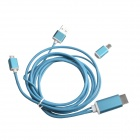 S-M14 Micro USB to HDMI 1080P MHL Cable for Samsung Galaxy S4 / S3 / Note 3 / Note 2 - Blue