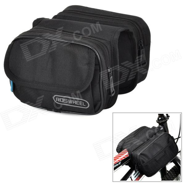 ROSWHEEL 12655 Convenient Durable 600D Dacron Top Tube Bag for Bicycle - Black