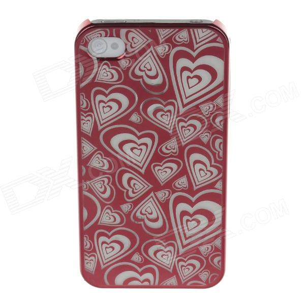 Laser Etching Series Heart Pattern Protective Plastic Back Case for Iphone 4 / 4s - Red zhiyun smooth4 smooth 4 3 axis handheld gimbal stabilizer for smartphone action camera iphone x 8 gopro hero 5 sjcam yi mic kit