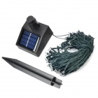 Solar Powered 0.6W 100-LED White String Light - Black