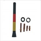 YB1312 Creative Car AM / FM Radio Antenna with Spring - Black + Red + Yellow