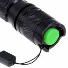 COFLY KX-055 LED 700lm 5-Mode Zooming White Light Flashlight - Black + Silver (1 x 18650)