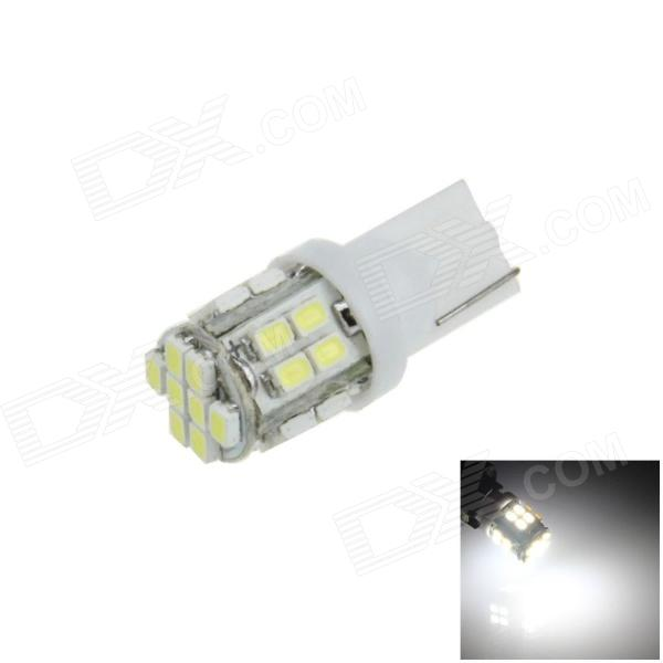 T10 / 168 / W5W 2.5W 220lm 24-SMD 1206 LED White Car Side Light / Instrument / Reading lamp - (12V)