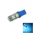 T10 / 194 / W5W 2W 200lm 9 x SMD 5050 LED Ice Blue Car Side Light / Signal / Reading lamp - (12V)