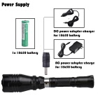 SingFire SF-55R XP-E R2 150lm 1-Mode Red Charging Tactical Flashlight w/ Remote Switch, Clip - Black