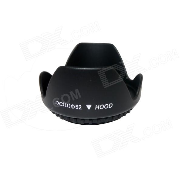 Plastic 52mm Lens Hood for Canon / Nikon - Black