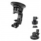 "Universal 1/4"" Super Powerful Car Suction Cup Mount for GoPro Hero 3+ / 3 / 2 / 1 - Black"