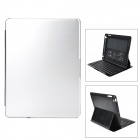 Portable Bluetooth v3.0 78-Key Keyboard / Plastic + PU Case for Ipad 2 / 3 / 4 - Silver