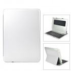 Portable Bluetooth v3.0 78-Key Keyboard / Plastic + PC Case for Ipad AIR - Silver
