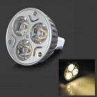 MeFire MR16 3W 180lm 3000K 3-LED Warm White Light Bulb Spotlight (12V)