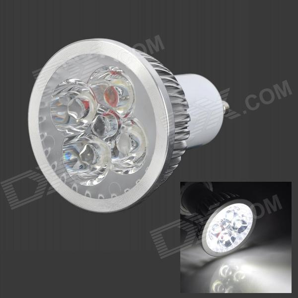 MeFire GU10 4W 240lm 7000K 4-LED White Light Spotlight (AC 85~265V) gu10 4w 350lm 6100k 4 cree xpe led white light spotlight silver ac 85 265v