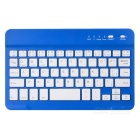 Universal Mini Ultra-thin Bluetooth V2.0 59-key Keyboard for Android - Blue + White (Cable-70cm)