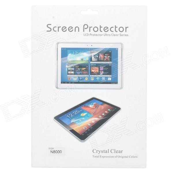 PET Screen Protector for Samsung Galaxy Note 10.1'' N8000 - Transparent (3PCS) чехол для планшета samsung flat screen protector p7500 p7510 p5100 p5110 n8000 n8010