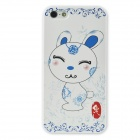 Colorfilm Cute 3D Chinese Zodiac Rabbit Pattern Protective PC Back Case for Iphone 5 / 5s - White